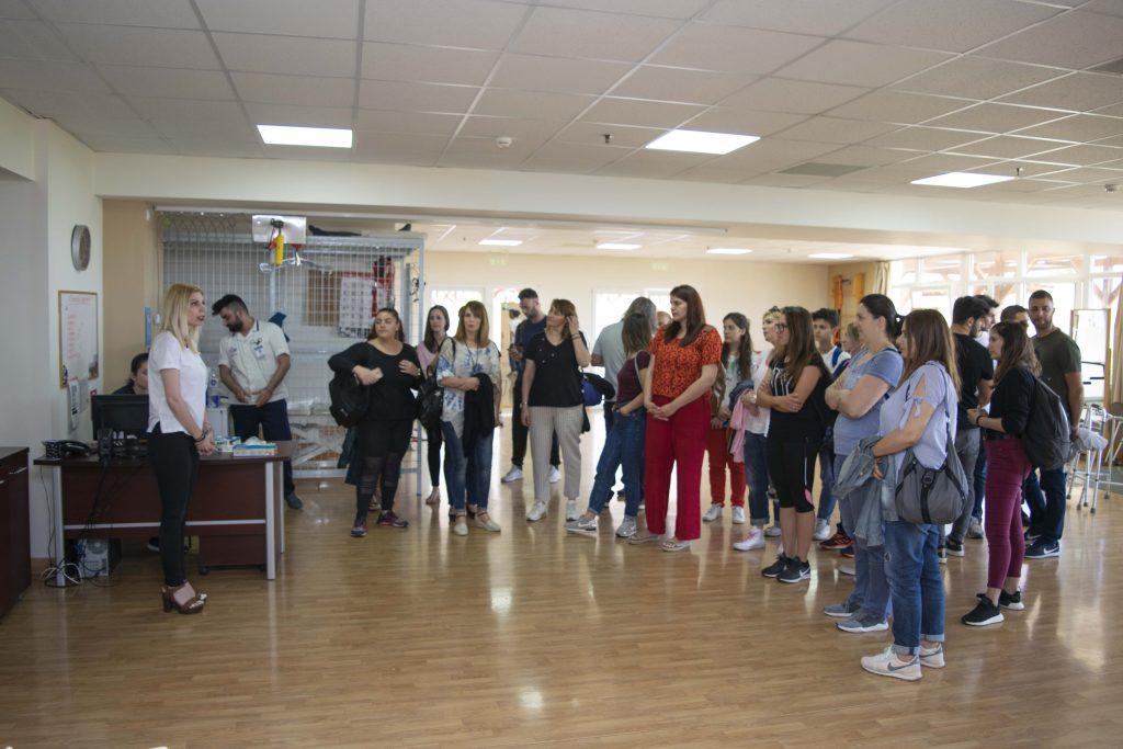 Επίσκεψη φοιτητών Τ.Ε.Ι στο Κ.Α.Α Αρμονία στις 5-Ιουνίου 2019